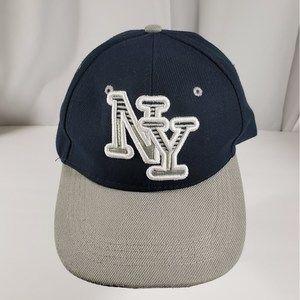New York Souvenir Hat, Gray Navy White, Adjustable
